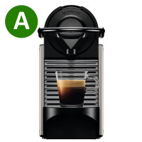 Krups XN304TS, Espresso Machine, Pixie Titanium