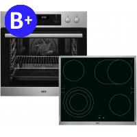 AEG HB3133MS30 (EEB355020M+HE604070XB), Set Oven-Hob
